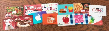 Examples of MVL Scrip Gift Cards