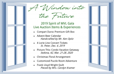 Spirit of MVL 2019 Gala Auction List
